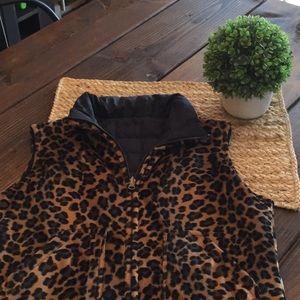 Dollhouse leopard reversible vest